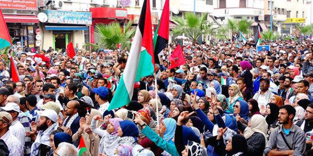 À Casablanca, une marche en solidarité avec la Palestine en octobre 2015