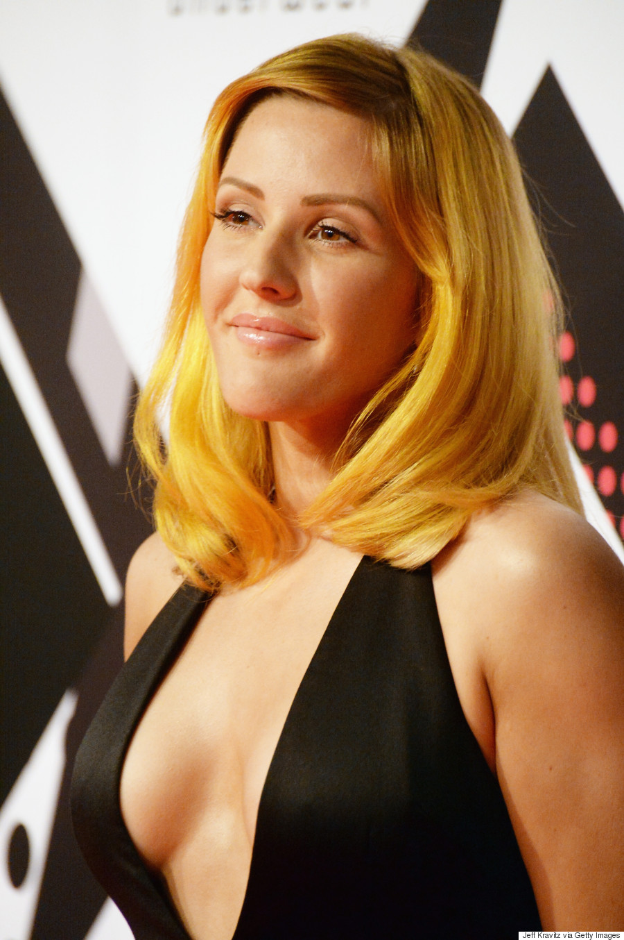 Ellie Goulding Shows Off New Vibrant Orange Hair On The