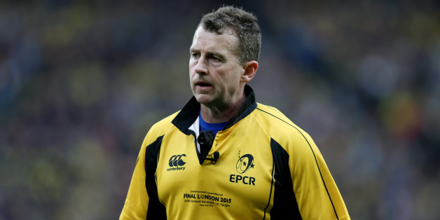 Referee Nigel Owens during the European Champions Cup Final at Twickenham Stadium, London.