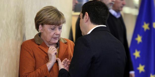 Angela Merkel und Alexis Tsipras beim EU-Sondergipfel am Sonntag