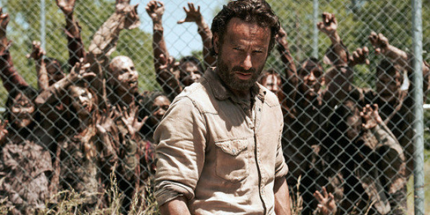 "Schon in sechs Staffeln kämpft Rick Grimes (Andrew Lincoln) jetzt schon gegen die Untoten in ""The Walking Dead"""