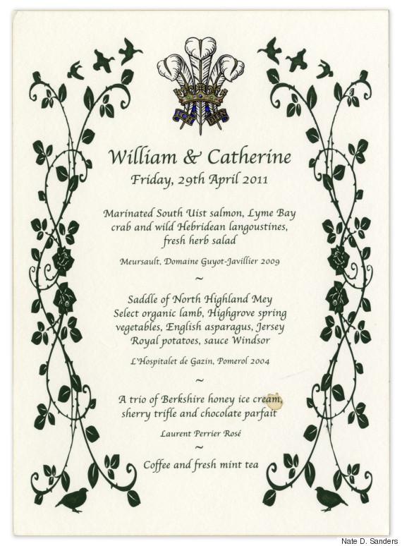royal menu
