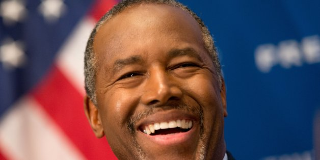 Republican presidential candidate Dr. Ben Carson speaks at a luncheon at the National Press Club in Washington, Friday, Oct. 9, 2015. (AP Photo/Andrew Harnik)
