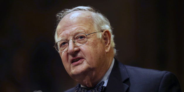 """Angus Deaton speaks at a gathering at Princeton University after it was announced that he won the Nobel prize in economics for improving understanding of poverty and how people in poor countries respond to changes in economic policy Monday, Oct. 12, 2015, in Princeton, N.J.  Deaton, 69, won the 8 million Swedish kronor (about $975,000) prize from the Royal Swedish Academy of Sciences for work that the award committee said has had """"immense importance for human welfare, not least in poor countries"""