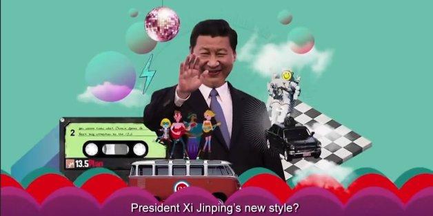Le président Xi Jinping dans le clip de propagande du dernier plan quinquennal chinois.