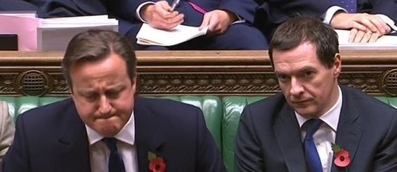 david cameron george osborne poo at pmqs