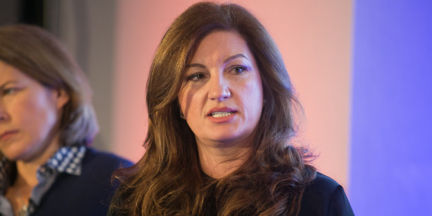 Karren Brady at the launch of the Britain Stronger in Europe campaign at the Truman Brewery, London.