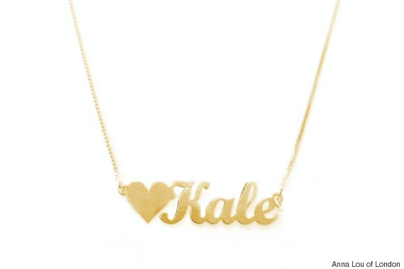 gold kale necklace