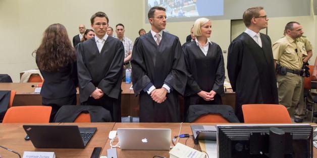 NSU-Mitglied Beate Zschäpe bei ihrem Prozess 2014 im Münchner Oberlandesgericht.