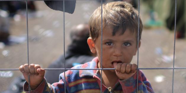 Ein Flüchtlingsjunge im September an der Grenze zwischen Serbien und Kroatien