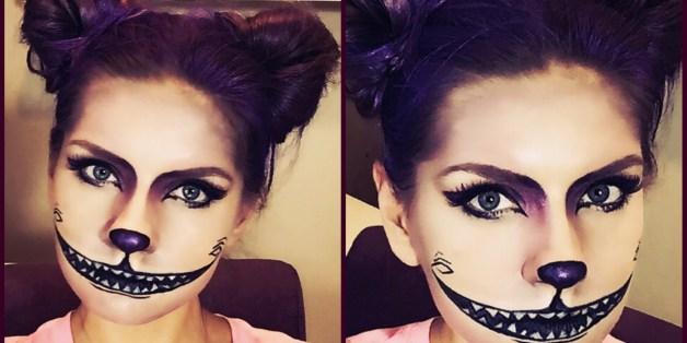 Disfraces Para Halloween Con Solo Maquillaje Y Peinado Huffpost - Disfraz-de-gata-para-halloween