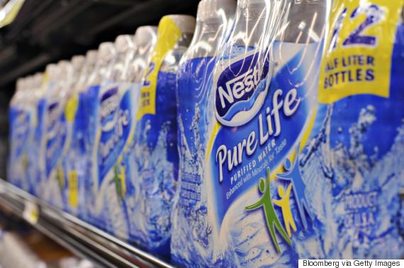nestle water bottle