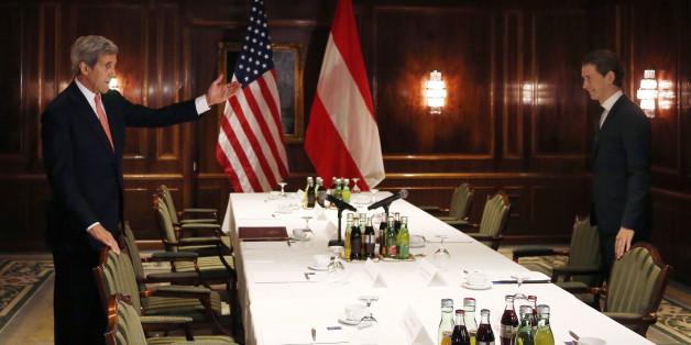Der US-Außeniminister Kerry in Wien gestern