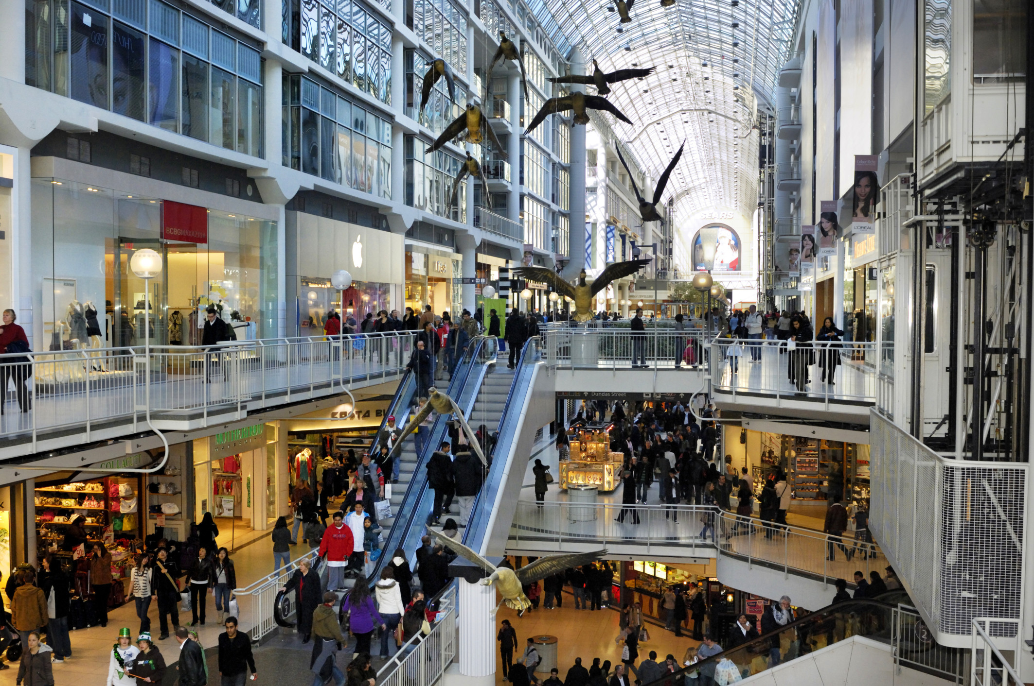 The Toronto Eaton Centre (corporately styled as the CF Toronto Eaton Centre since September , and commonly referred to simply as the Eaton Centre) is a shopping mall and office complex in Downtown Toronto, Ontario, Canada.