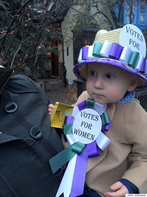 suffragette costume close up
