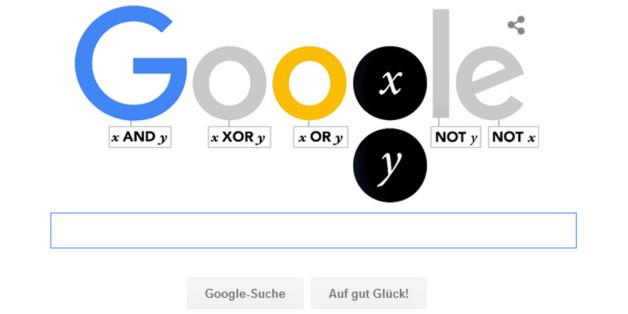 """Google ehrt den """"Logik-Urvater"""" George Boole mit einem Logo"""