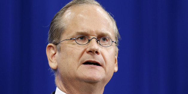 Democratic presidential candidate, Professor of Law at the Harvard Law School, Lawrence Lessig speaks at the New Hampshire Democratic Convention Saturday Sept. 19, 2015 in Manchester, N.H. (AP Photo/Jim Cole)
