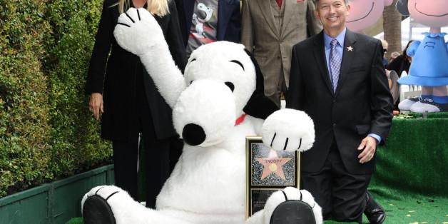 Snoopy auf dem Walk of Fame.