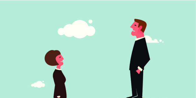Vector illustration of a man and a woman standing on money