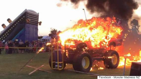 monster truck fire