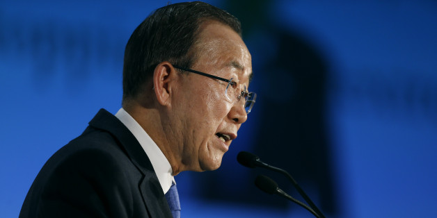 United Nations Secretary-General Ban Ki-moon gives a speech during a conference about violent extremism, in Madrid, Wednesday, Oct. 28, 2015. Ban Ki-moon is on an official visit in Spain. (AP Photo/Francisco Seco)