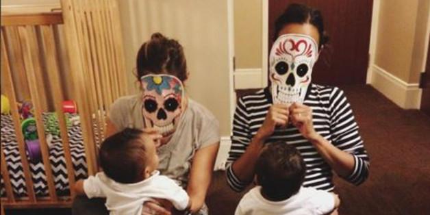 Zoe Saldana setzt beim Tag der Toten auf Tradition.