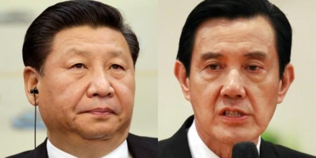 시진핑(習近平) 중국 국가주석과 마잉주(馬英九) 대만 총통
