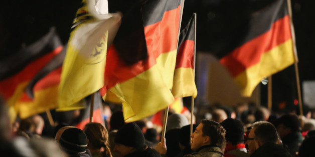 Pegida-Protest in Dresden