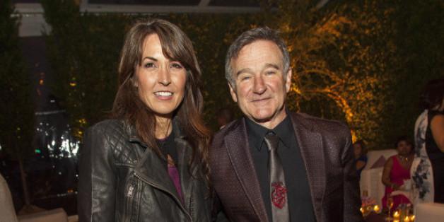 Robin Williams und seine Frau Susan Schneiderim Juni 2013 bei George Lucas' Hochzeitsempfang