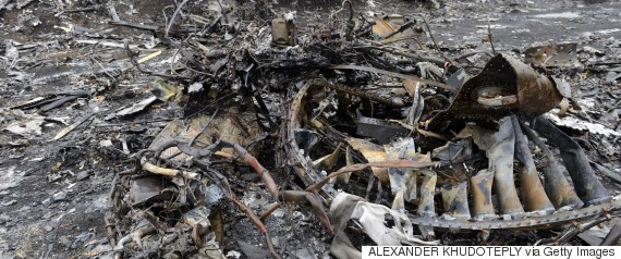 malaysian airlines ukraine wreckage