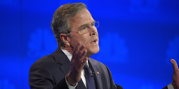 Jeb Bush speaks during the CNBC Republican presidential debate at the University of Colorado, Wednesday, Oct. 28, 2015, in Boulder, Colo. (AP Photo/Mark J. Terrill)