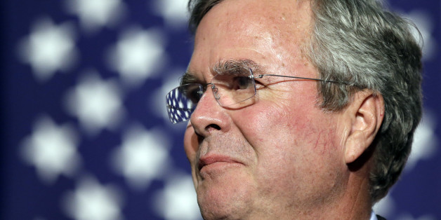 "In this Oct. 6, 2015, file photo, Republican presidential candidate former Florida Gov. Jeb Bush speaks during the Scott County Republican Party's Ronald Reagan Dinner in Davenport, Iowa. Medical records released by Bush indicate the 62-year-old Republican presidential candidate is ""healthy and vigorous"" and in condition to serve as president if elected. An affidavit signed by Bush's doctor says the former Florida governor takes cholesterol medication. Dr. Alberto A. Mitrani says Bush'"
