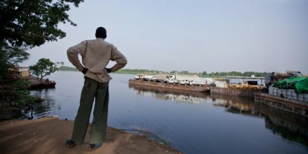 Un bras du Nil au port de Juba, au Soudan du Sud, le 28 février 2012