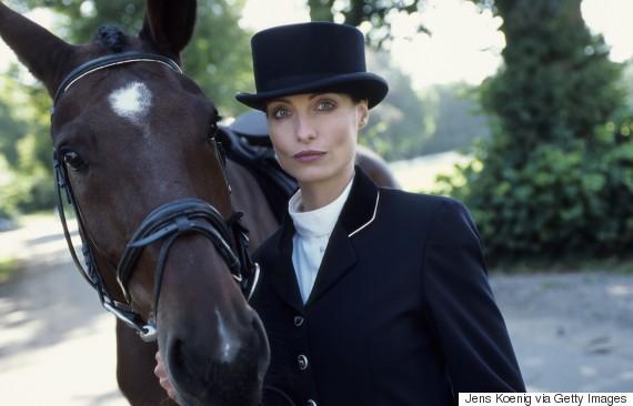 posh woman horse