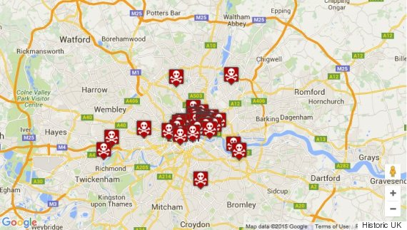 London plague pits map shows where black death victims are buried plague pits gumiabroncs Images