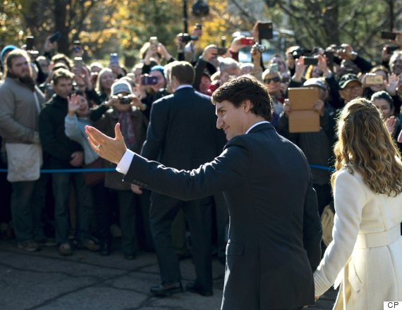 trudeau swearing in rideau hall
