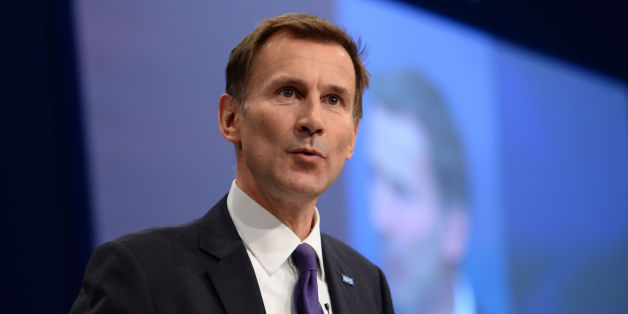 Health Secretary Jeremy Hunt addresses the Conservative Party conference at Manchester Central.