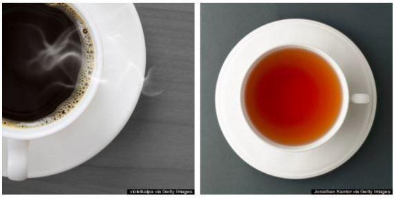café vs chá