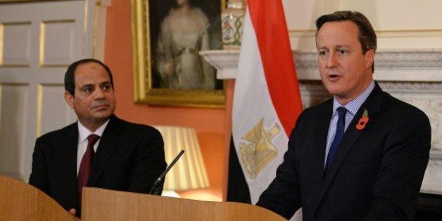 Le président égyptien Abdel Fattah al-Sissi et le Premier ministre britannique David Cameron lors d'une conférence de presse commune le 5 novembre 2015 à Londres