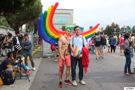 taiwan lgbt pride rainbow wing man