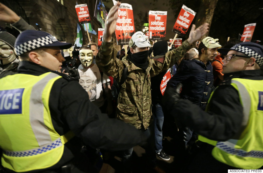 mask march london
