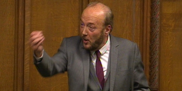 George Galloway MP speaks during a sitting of the house motion in the House of Commons
