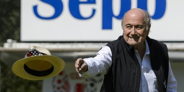 Sepp Blatter, lors du tournoi qui porte son nom, le 22 août 2015 dans sa ville d'Ulrichen