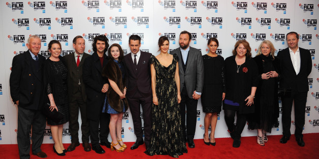 LONDON, ENGLAND - OCTOBER 13:  (L-R) Olivia Colman, Michael Smiley, Ben Whishaw, Jessica Barden, Colin Farrell, Rachel Weisz, Yorgos Lanthimos, Ariane Labed, Lee Magiday and Andrew Lowe attend 'The Lobster'- Dare Gala, In Association With Time Out during the BFI London Film Festival at Vue Leicester Square on October 13, 2015 in London, England.  (Photo by Eamonn M. McCormack/Getty Images for BFI)