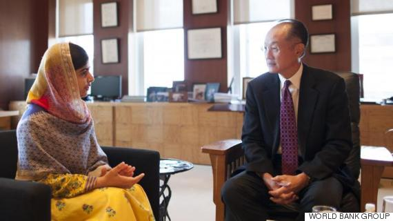 malala yousafzai and jim yong kim