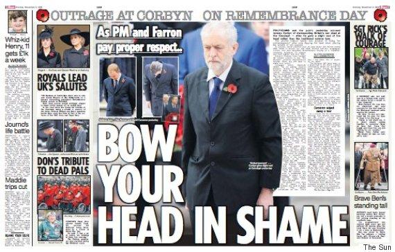 the sun corbyn