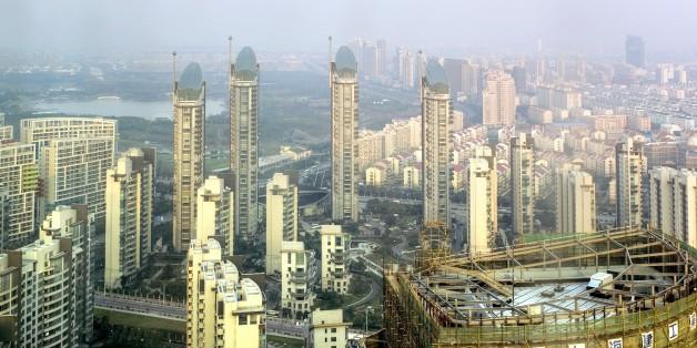 30th floor bathroom view from Sofitel Shanghai
