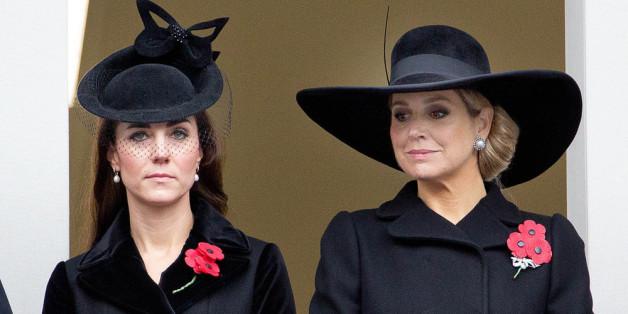 Herzogin Kate und Máxima in Schwarz bei der Gedenkfeier.