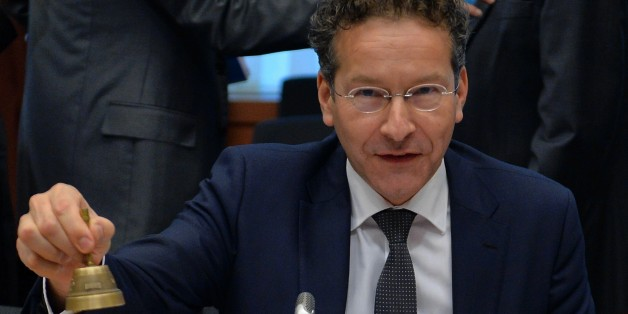 BRUSSELS, BELGIUM - NOVEMBER 09: The president of the Eurogroup Jeroen Dijsselbloem starts the Eurogroup finance ministers meeting in Brussels, Belgium on November 09, 2015. (Photo by Dursun Aydemir/Anadolu Agency/Getty Images)