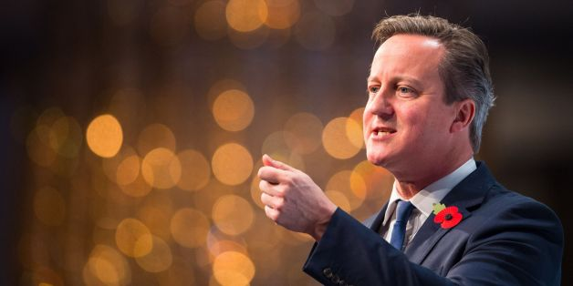 Prime Minister David Cameron addresses the annual conference of the CBI (Confederation of British Industry) at the Grosvenor House Hotel in London.